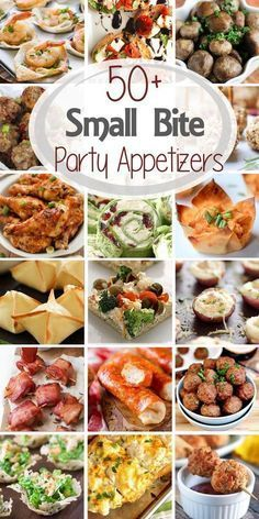 50+ Small Bite Party Appetizers #fingerfoodappetizers