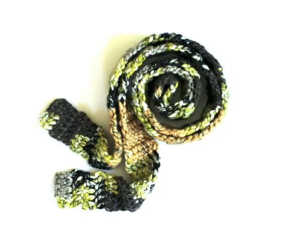 Long Scarf Crochet Scarves Mens Scarves Fall Winter Travel Accessories Man Woman Unisex Neck Wraps Gray Black Beige Green Multicolor Gifts #mensscarves