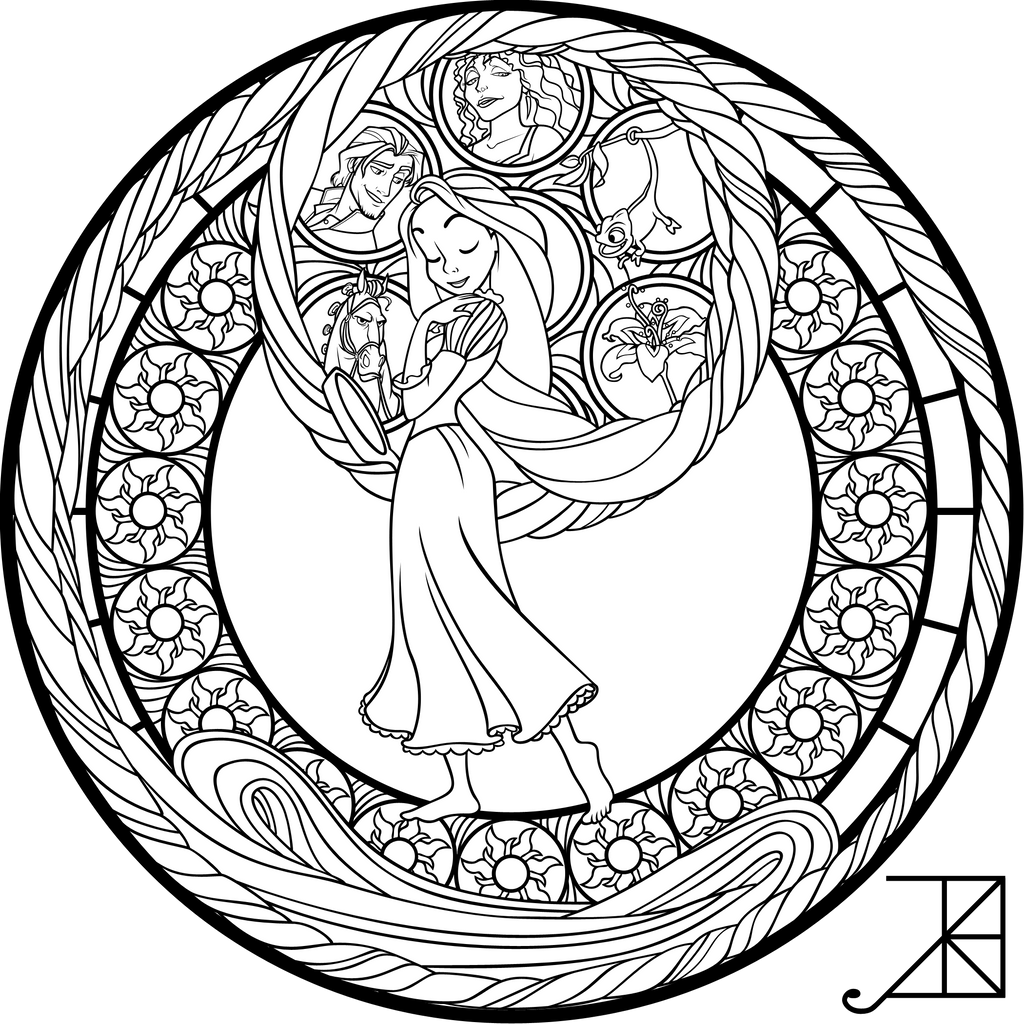 Sg Rapunzel Coloring Page By Akili Amethyst On