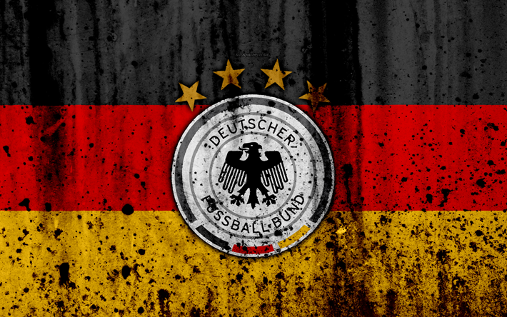Download Wallpapers Germany National Football Team 4k Logo Grunge Europe Football Stone Texture Soccer Germany European National Teams Besthqwallpapers Germany Football Team National Football Teams Germany National Football Team