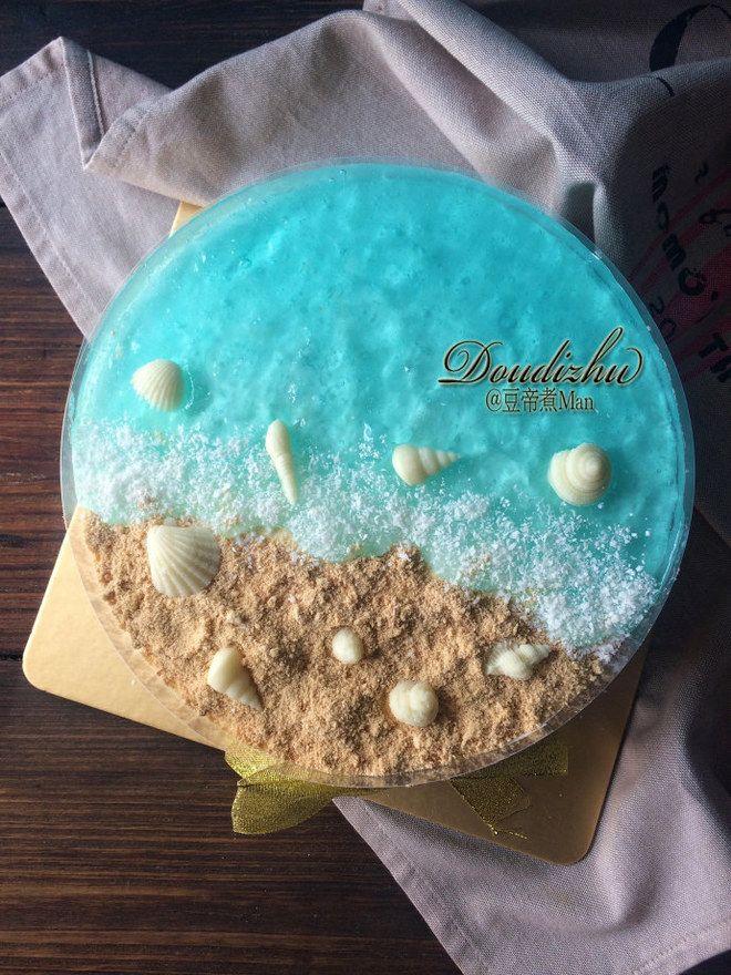 蓝色海洋慕斯 blue ocean mousse cake   藍色海洋慕斯