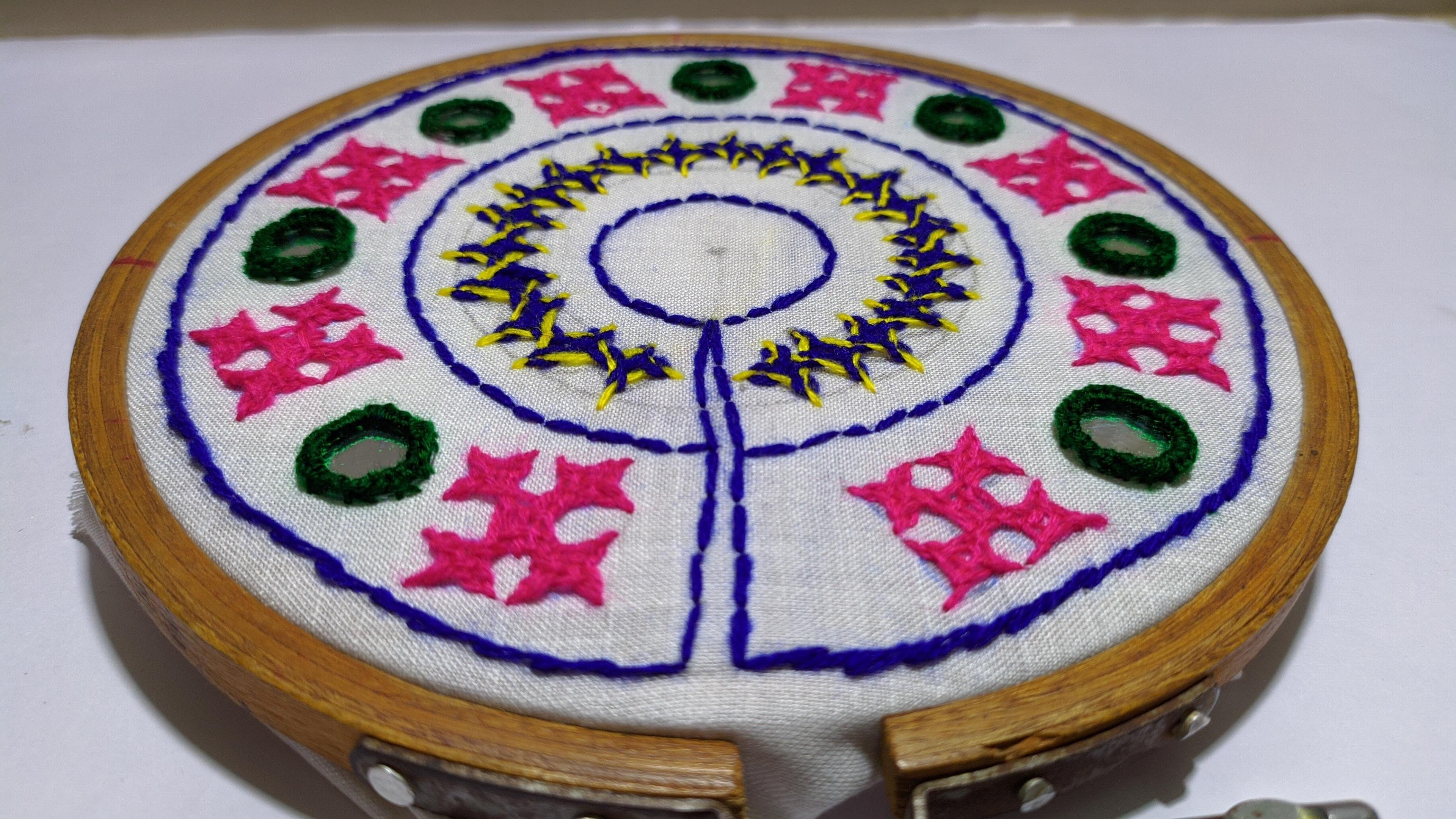 sindhi work hand embroidery tutorial