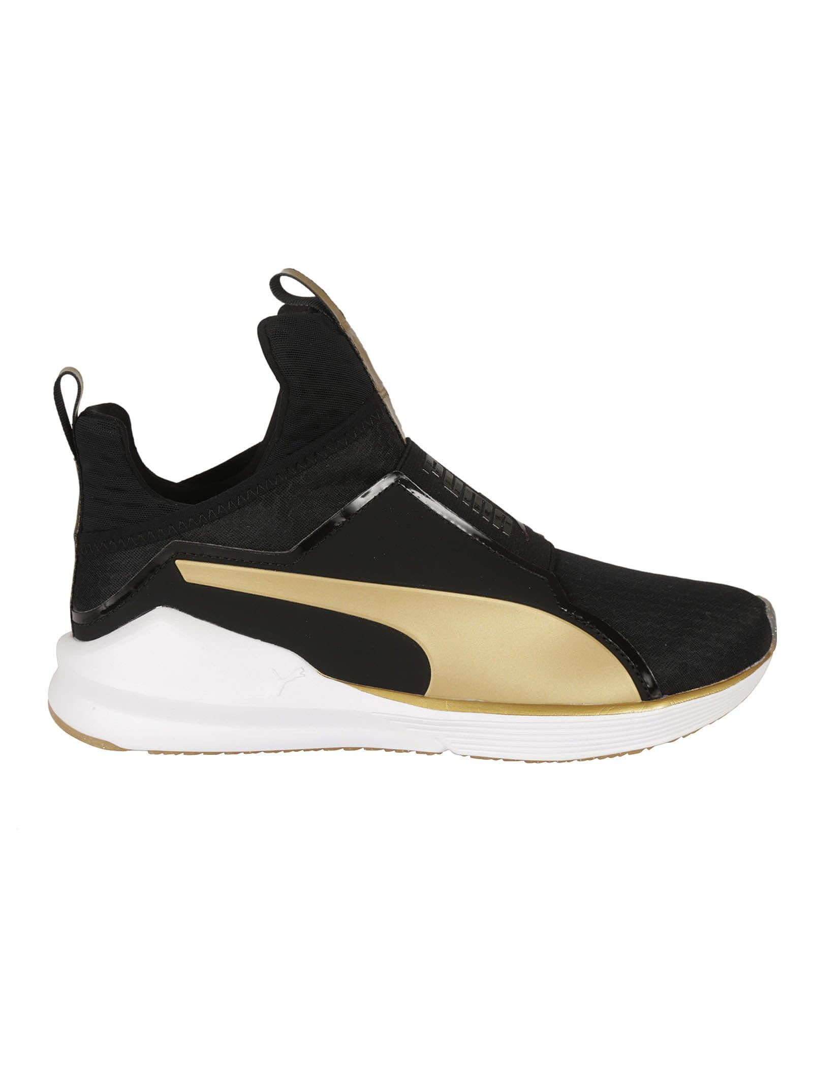 revendeur ea3ab a4cfb PUMA BLACK AND GOLD FIERCE SNEAKERS. #puma #shoes # | Puma ...