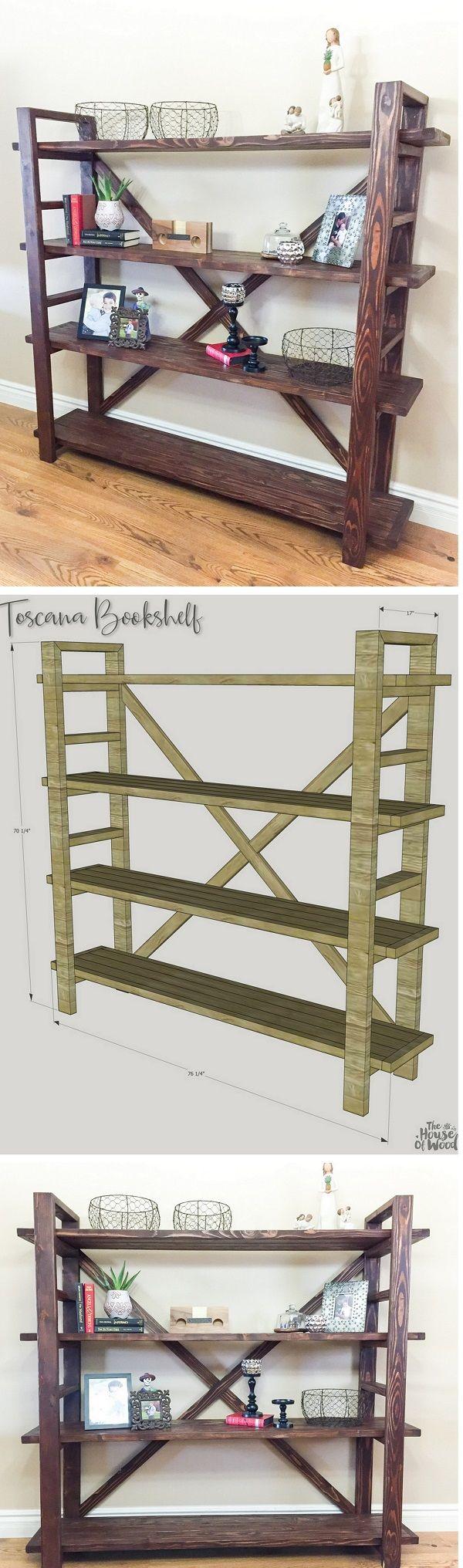 Check out how you can build a DIY Toscana bookshelf yourself @istandarddesign
