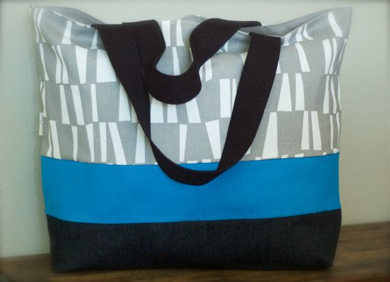 Extra Large Weekend Tote/Beach Bag - Gray Sticks Print on Etsy, $67.55 CAD