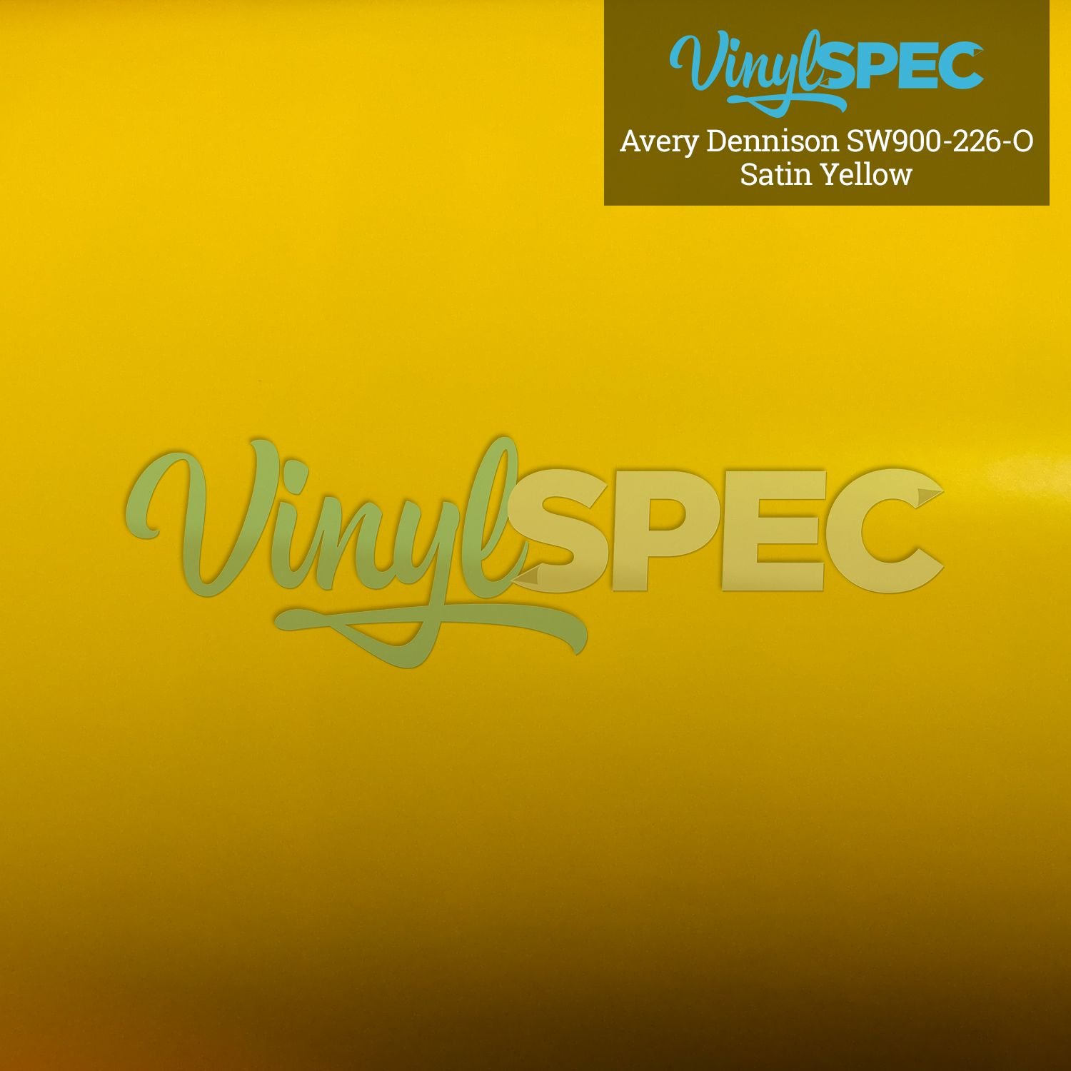 Avery Dennison Satin Yellow SW900-190-O Vinyl Spec- Distributor of Vinyl Car Wrap Film, tools, and aftercare products