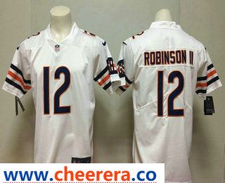 Men s Chicago Bears  12 Allen Robinson II White 2018 Vapor Untouchable  Stitched NFL Nike Limited Jersey 68ec97471
