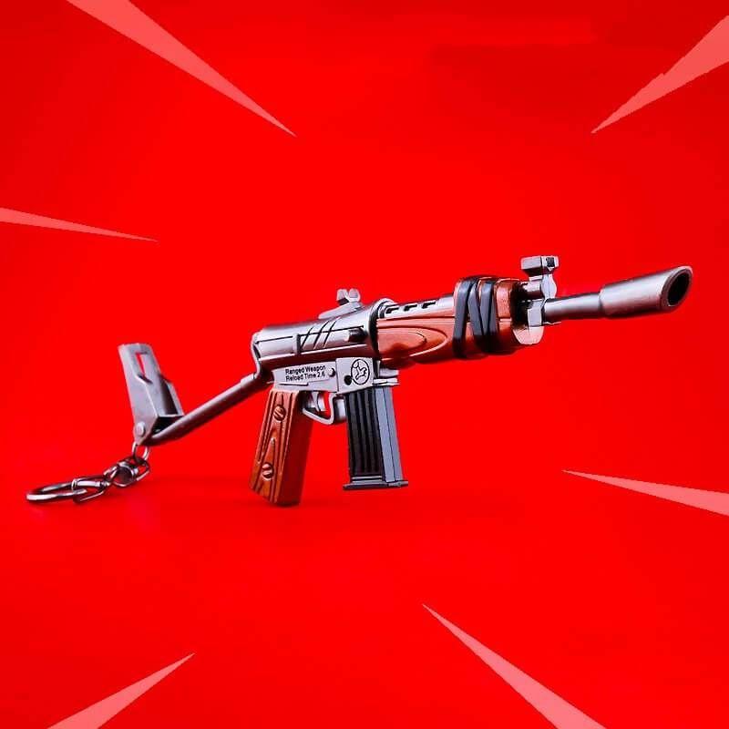 Fortnite Battle Royale Burst Assault Rifle Weapon Keychain Accessory