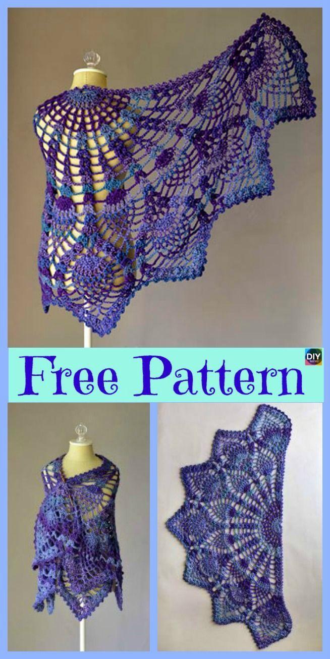 10+ Hübsche gehäkelte Schals - kostenlose Anleitungen, #anleitungen #crochetshawl #gehakelte ... #crochetscarves