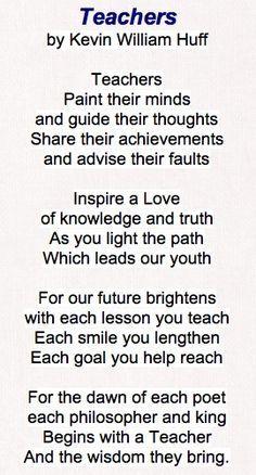 good teacher poems and...