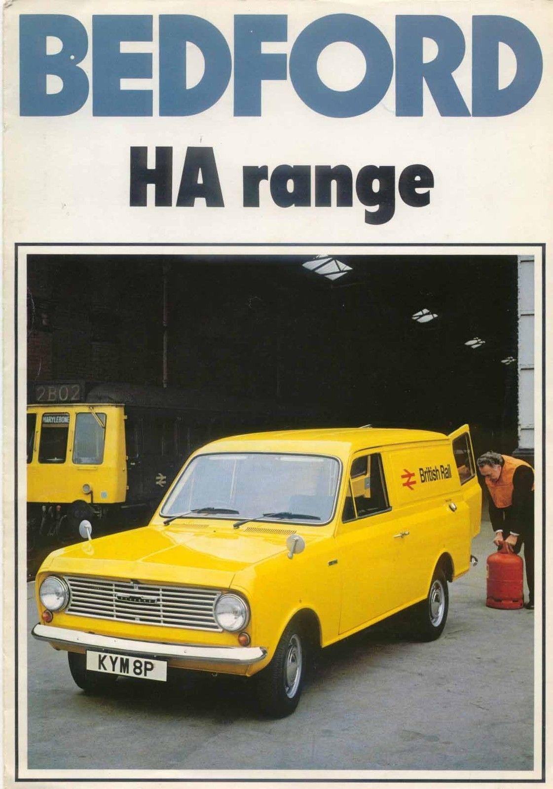 Bedford HA 110 130 Van 1977 Original UK Sales Brochure No B/BX1735 ...