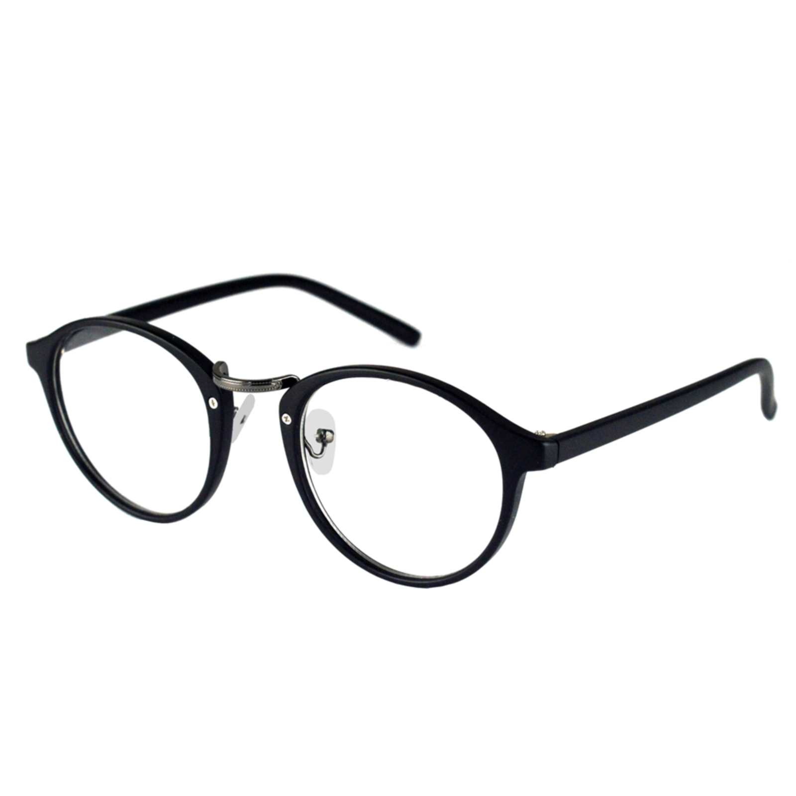 Armacao Oculos De Grau Izaker Redondo 137 Preto Armacoes De