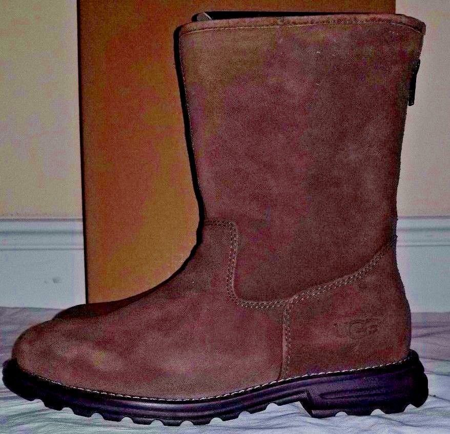 6daad3dc9a8 Womens Ugg Australia Langley Brown Suede Boots Style 1016040 Size 8 ...