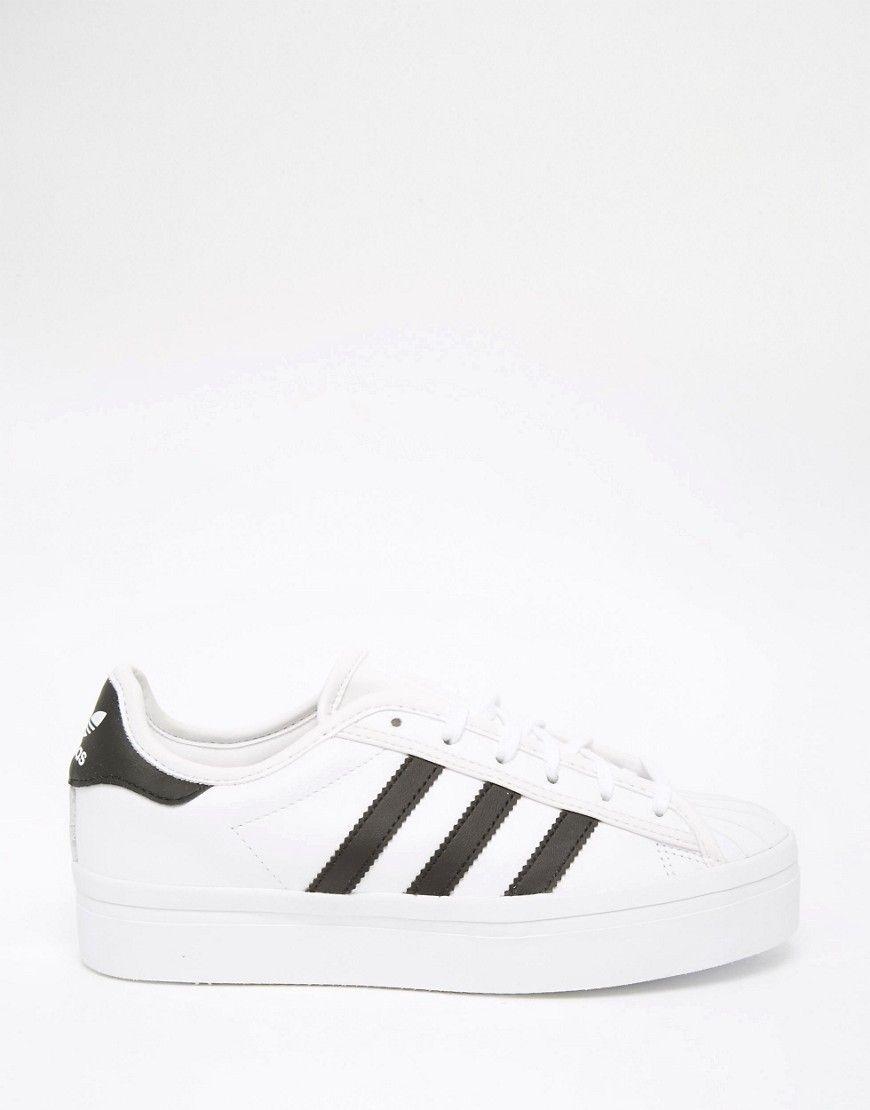 adidas Originals Superstar White & Black Rise Trainers