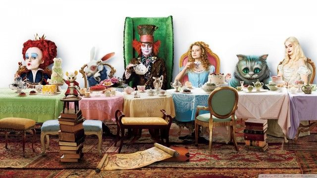 Alice In Wonderland Tea Party 1920x1080 Hd Wallpaper Movies