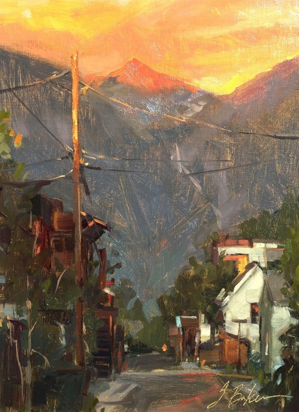 Alpenglow, by artist Suzie Baker paintingcontest