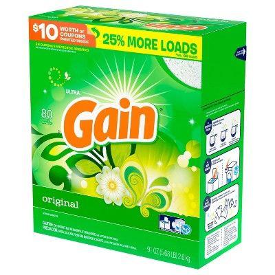 Gain Original Powder Laundry Detergent 91oz In 2019 Products