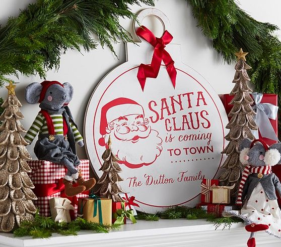 Personalized Quot Santa Claus Is Coming To Town Quot Ornament