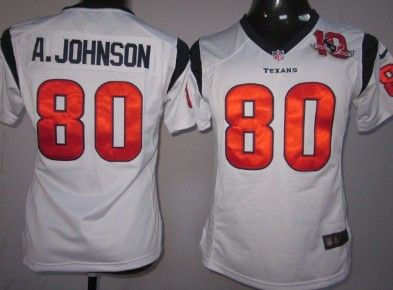 New Nike Houston Texans #80 Andre Johnson White Game Womens Team 80TH  supplier