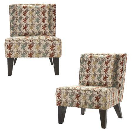 found it at wayfair vienna clover fabric slipper chair set of 2