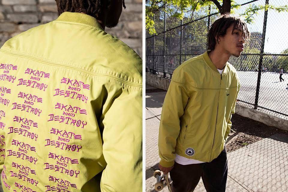 ece9364be28c Supreme X Thrasher Poplin Crew Jacket Size M