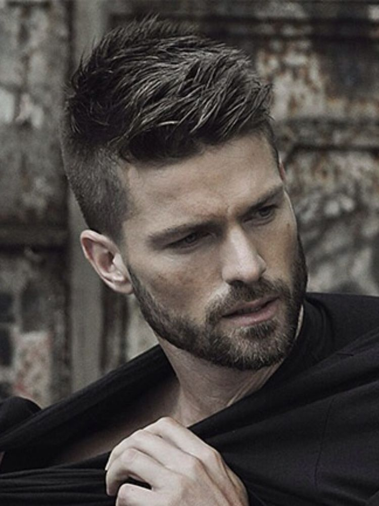 Hairstyle For Man Long Top Short Sides Haircut And Bearded Hair