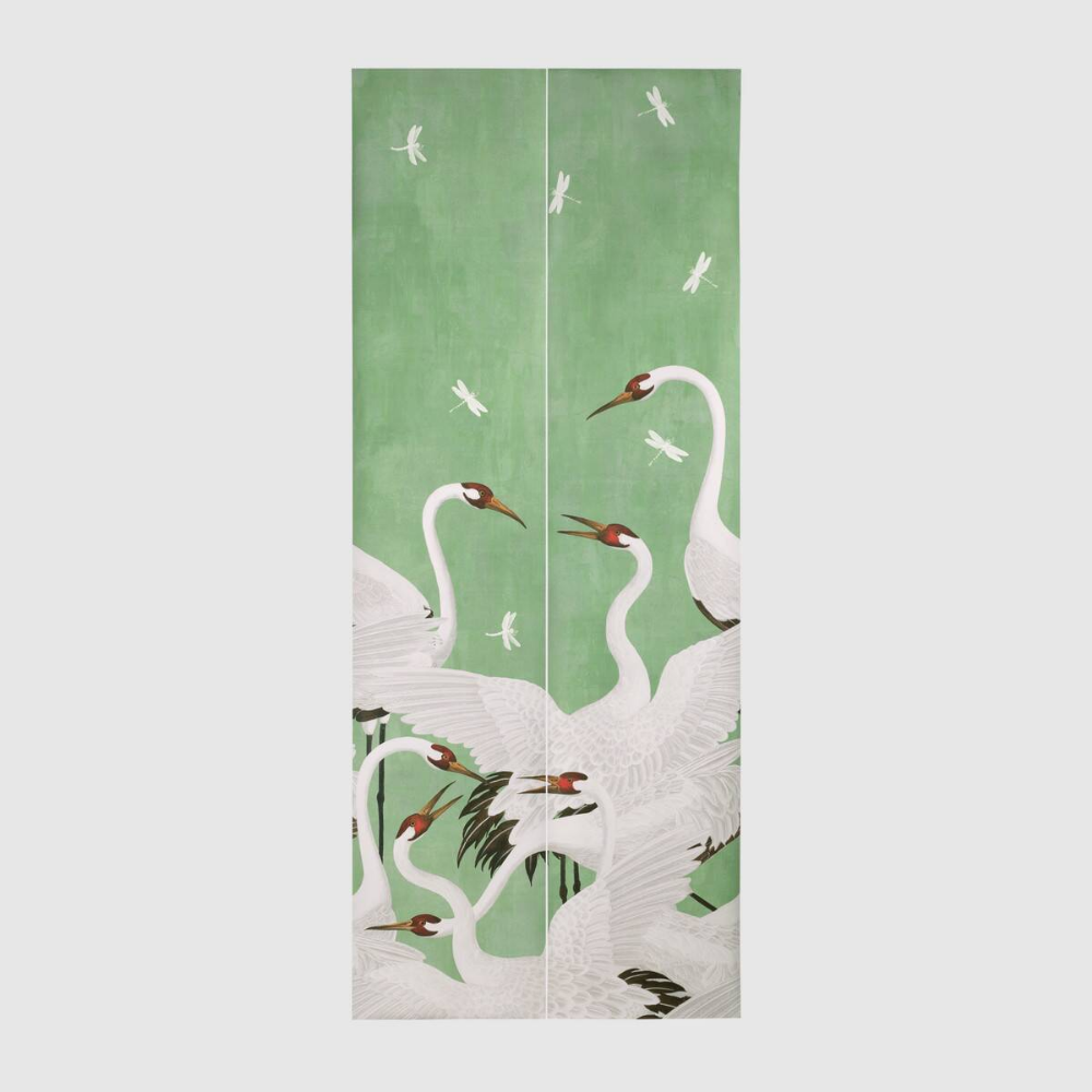 Shop the Heron print wallpaper by Gucci. The Heron print