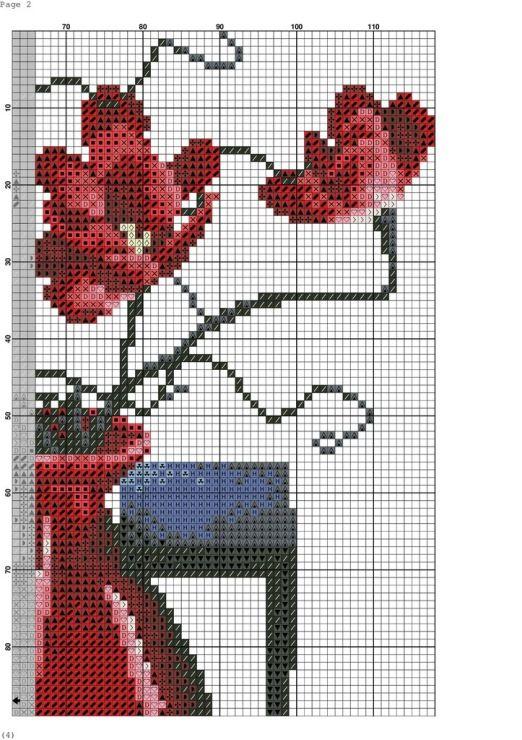 Gallery.ru / Фото #4 - Cervene vazy - zuzas | Cross Stitch - Flowers ...