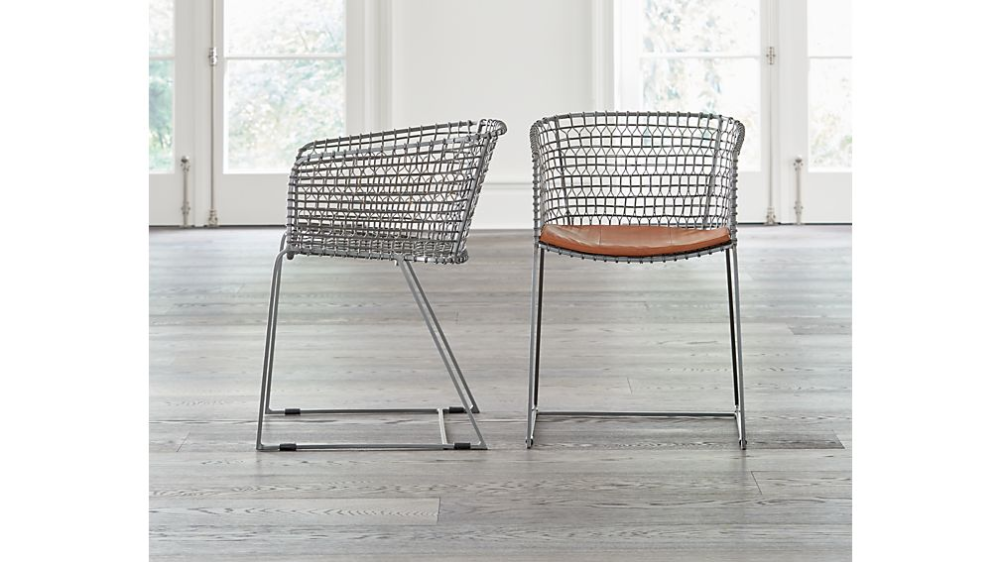 Tig Metal Barrel Dining Chair Reviews Crate And Barrel In 2020 Dining Chairs Metal Dining Chairs Chair