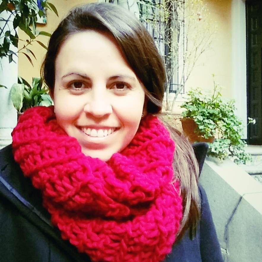 Cuello - Bufanda Infinita a Crochet con los Dedos   Ahuyama Crochet ...