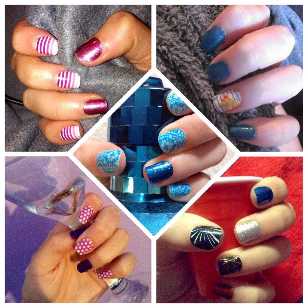 A few of my own personal jamicures! Stacey Sobelman, Jamberry Nails Independent Consultant. #jamberry