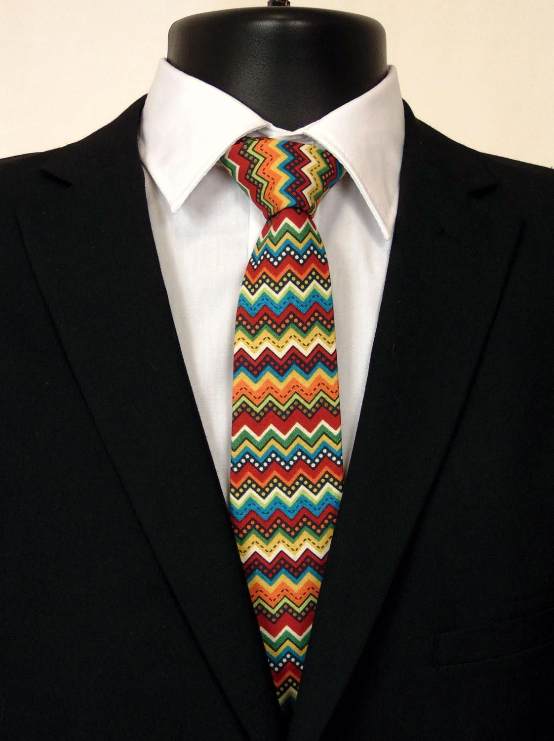 Mens Mexico Pattern Fashion Silk Ties Personalized Gift Neckties