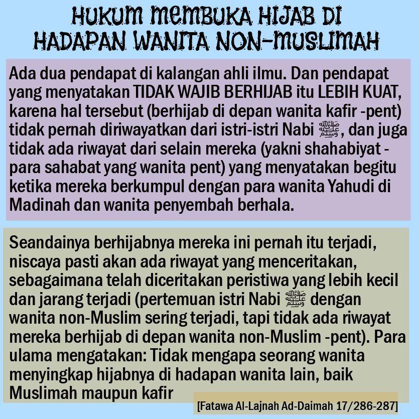 hukum membuka hijab di hadapan wanita non muslimah wanita hukum