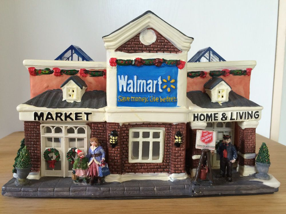 Walmart Supercenter Store 2009 Christmas Village Lighted