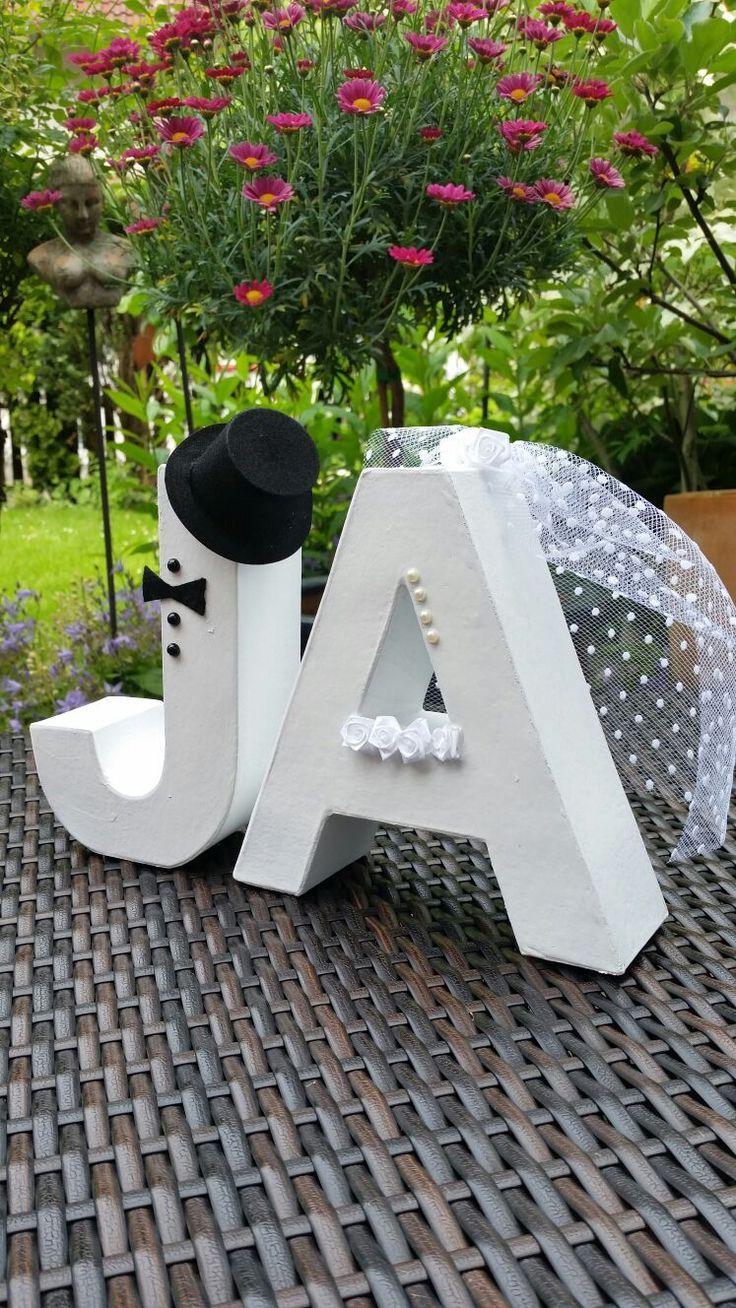 Hochzeits-Deko Pappbuchstaben JA | HOBBYmade Bastelbedarf #hochzeitsdeko
