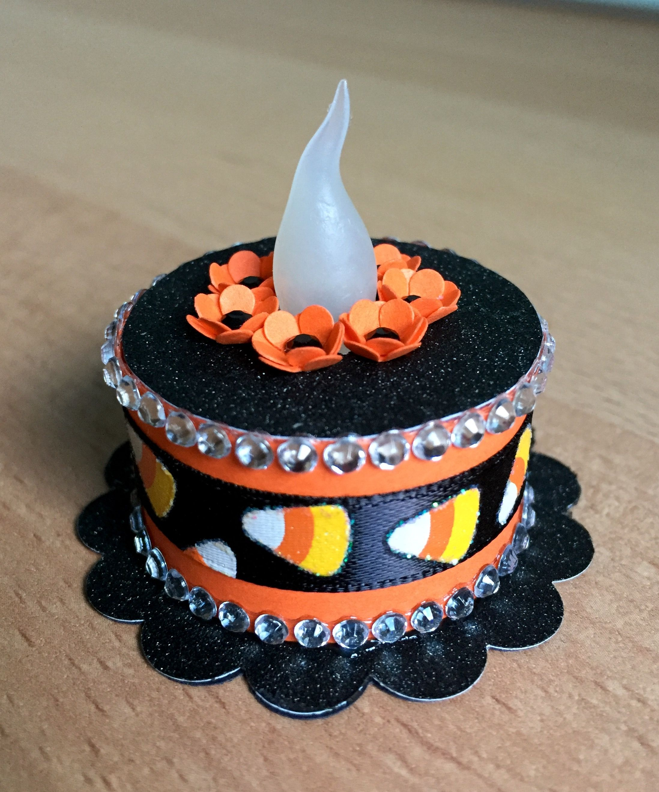 """Halloween"" Tea Light Cake Tea light crafts"