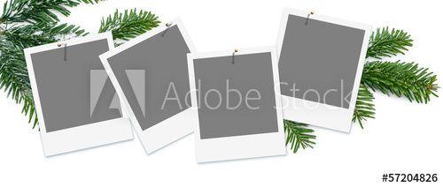 Frohe Weihnachten, Template, Platzhalter für eigene Fotos