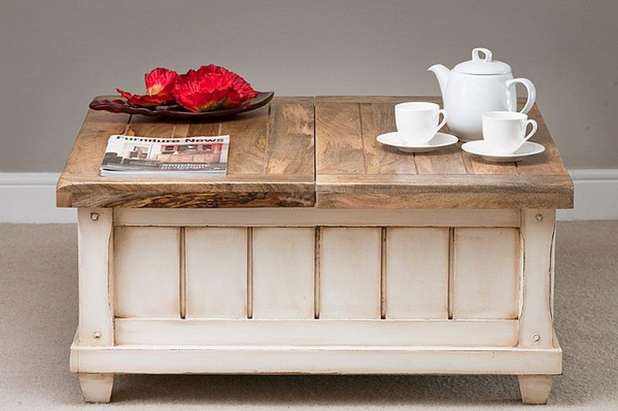 small shabby chic coffee table For our home Pinterest Shabby