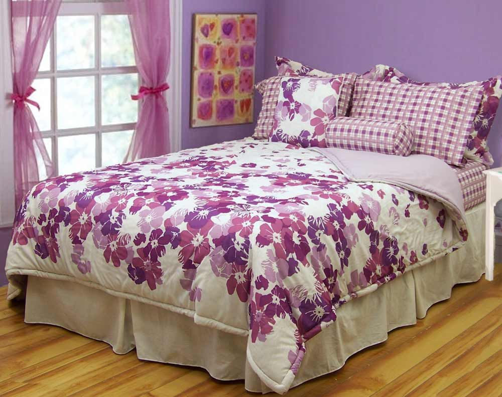 purple bed spreads | purple bedspreads for girls | awesome purple