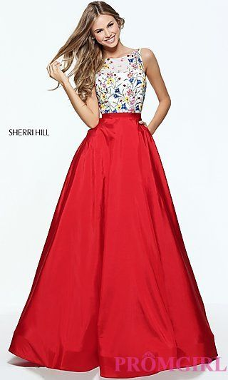 Open-Back Long Prom Dress by Sherri Hill at PromGirl.com | Dresses ...