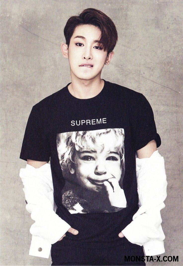 Ironic.. that shirt is what I look like looking at pictures of Wonho..