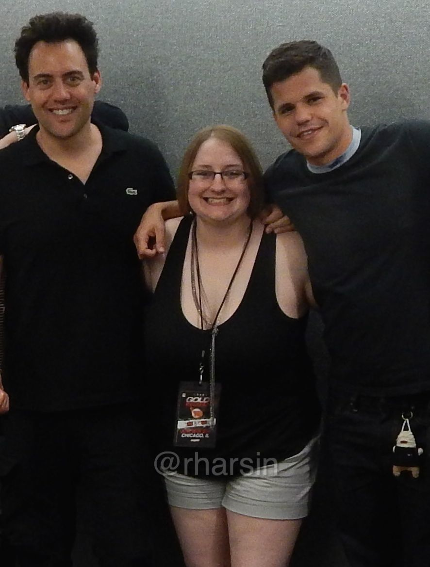 Me Rharsin With Orny Adams And Charlie Carver After Their Meet And