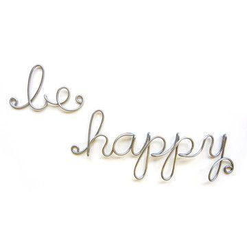 The recipe for happiness is...choose a great script font that can shows how happy you are!!! ;)