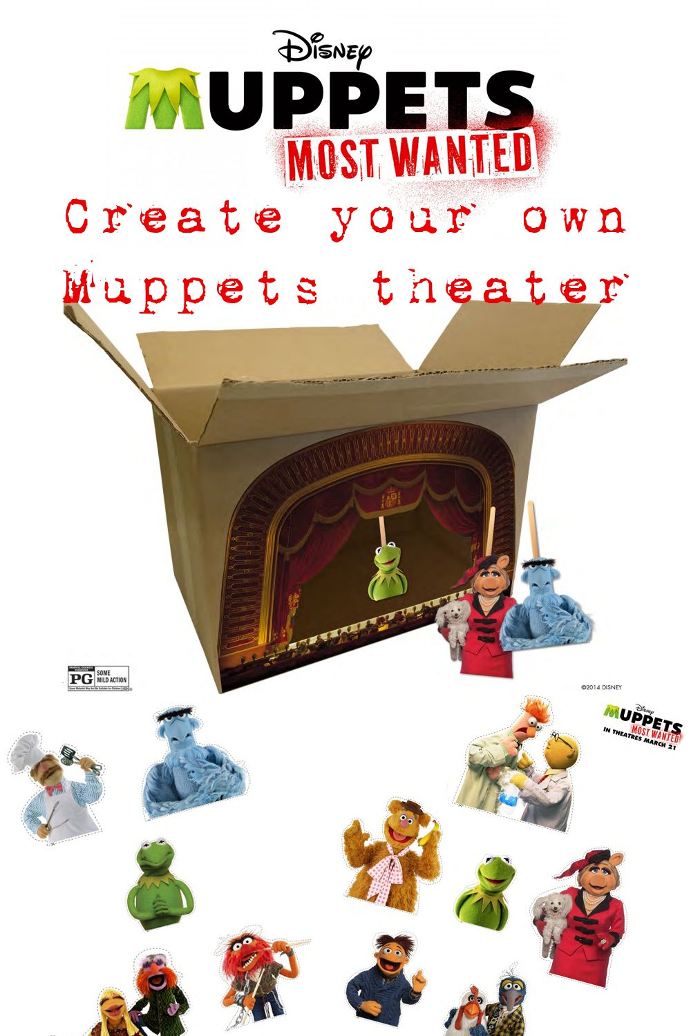 DIY Muppets Most Wanted Theater, Memory Game + More # ...