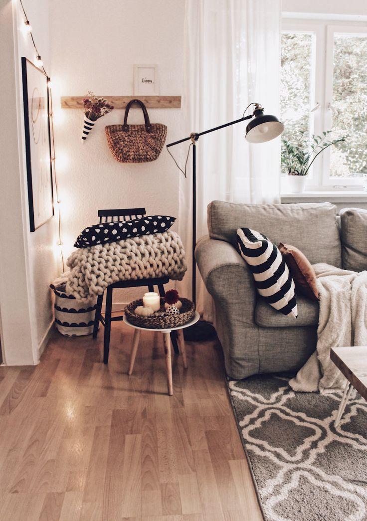 Wohnzimmer im Herbst - so einfach geht das Dekorieren #roominterior