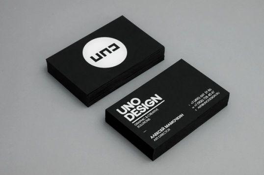 Uno Design Carte De Visite Noire Exemple