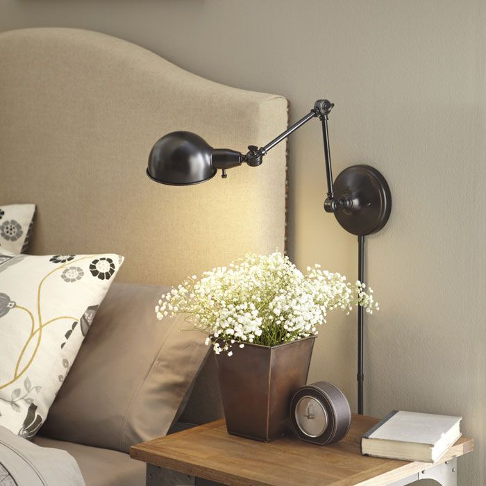 Wall Mounted Lights For Bedroom Mesmerizing Curl Up With A Good Book Or Highlight A Pretty Bedside Vignette With