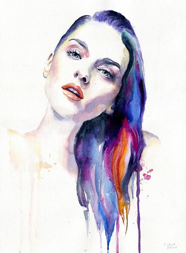 Watercolor Paintings By Cora And Tiana Watercolor Face