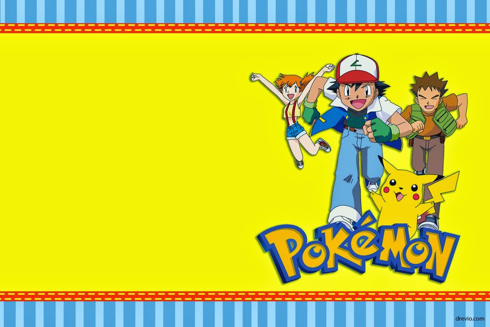 Download Now FREE Template Free Printable Pokemon Birthday Invitation