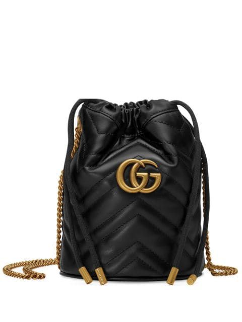 GUCCI mini GG Marmont bucket bag  bags bags